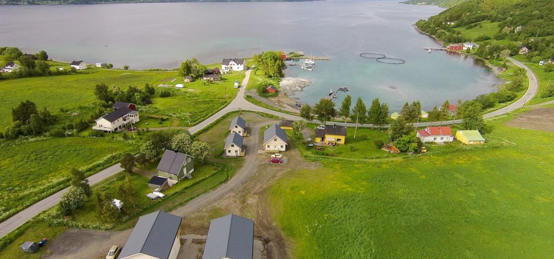 Dronefoto av Jæger Adventure Camp